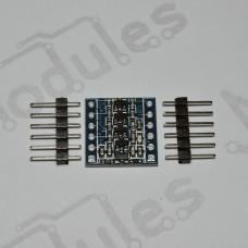 Преобразователь логических уровней, 4-канальный, двухсторонний, I2C, UART, SPI