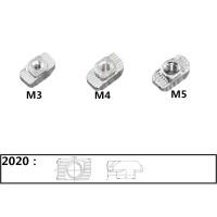 Т-гайка для станочного профиля 2020, М3 М4 М5