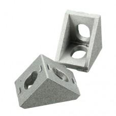 Алюминиевый уголок для соединения станочного профиля 20х20