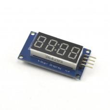 4-разрядный LED индикатор на TM1637, красный