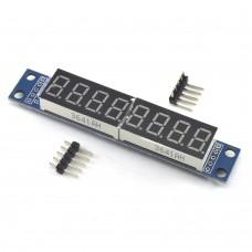 8-разрядный LED индикатор на MAX7219, красный
