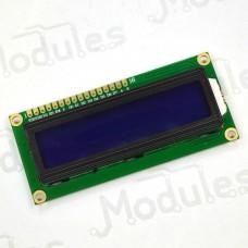 Символьный LCD дисплей 1602, синий (HD44780)