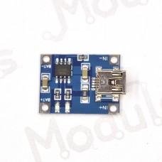 Зарядное для литиевых аккумуляторов 18650 MiniUSB 5V 1A