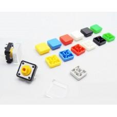 Кнопка тактовая с квадратным колпачком и прозрачной накладкой
