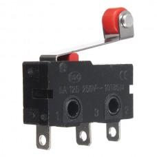 Микро концевой выключатель KW12-3, роликовый