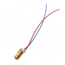 Лазерный диод, точка, 5мВт, красный, 650нм