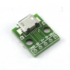 Разъем Micro USB мама на платке