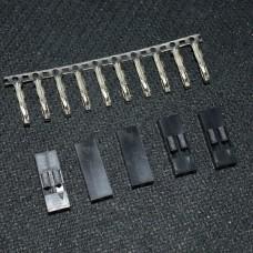 Коннектор Dupont 2.54 мм 10/2
