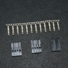 Коннектор Dupont 2.54 мм 12/4