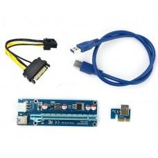 Райзер USB 3.0 PCI-E Express 1x to16x Riser 60см 6pin