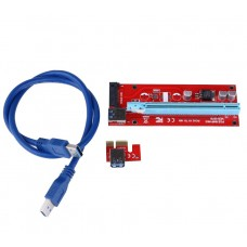 Райзер USB 3.0 PCI-E Express 1x to16x Riser 60см Sata 15pin