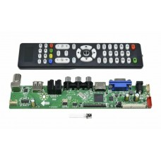 Универсальный скалер M53V5.1 c HDMI,VGA,AV,USB,TV русский язык